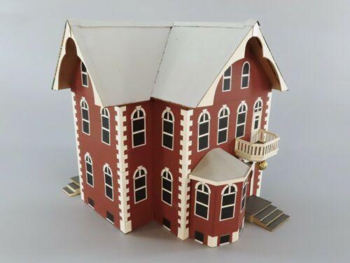 Vintage+Victorian+Era+2+Story+House+Hand+Made+Folk+Art+Model+Railroad+Building