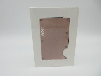 The Color Rose Gold (The Ridge Wallet Aluminum Rose Gold Money Clip Minimalist NIB HTF)