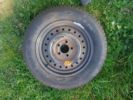 Spare wheel, brand new Goodyear eagle tyre suit Au, ba, bf, fg, f