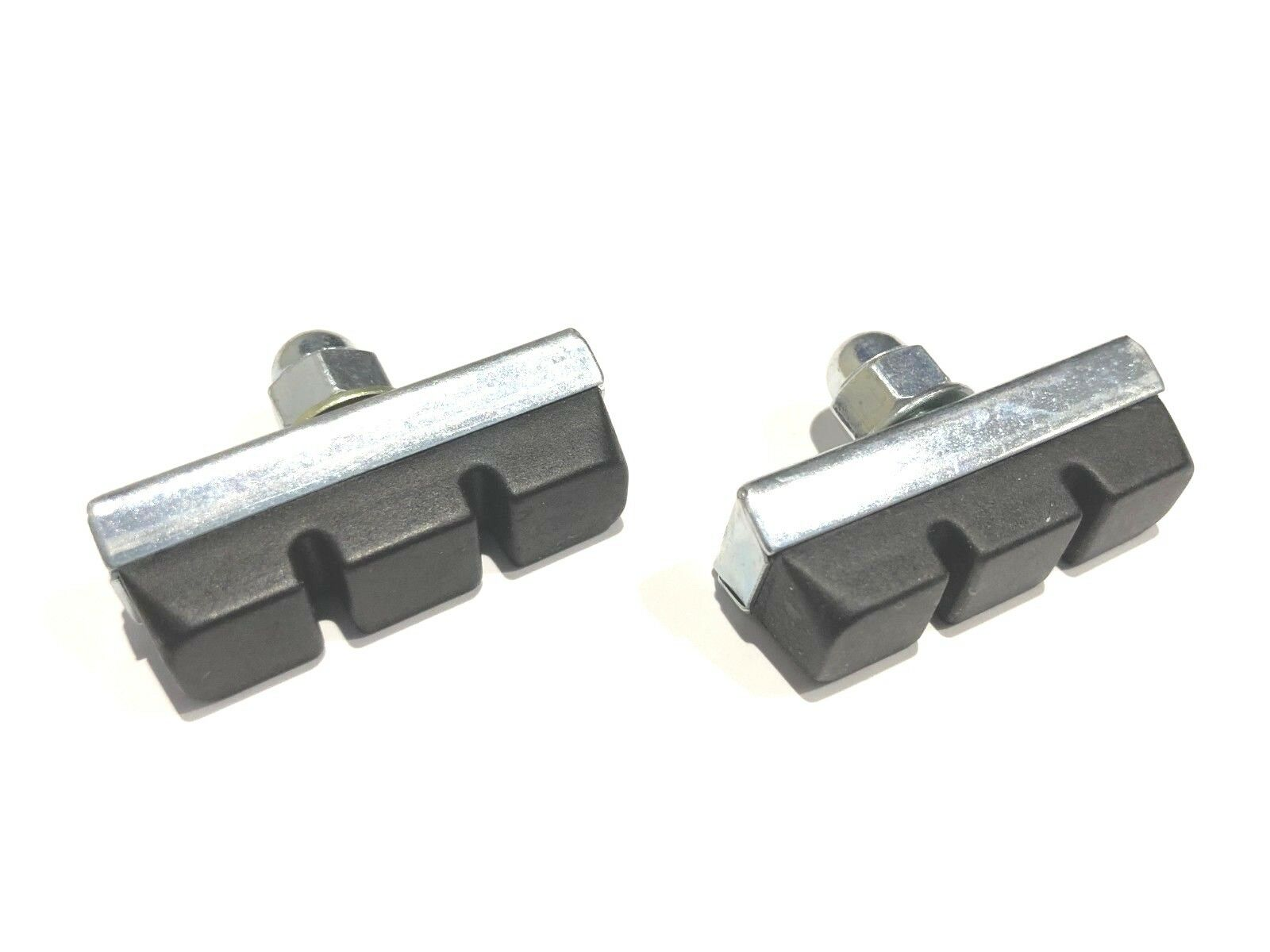 WHITE PAIR Dia-Compe reissue threaded brake pads old school BMX bicycle