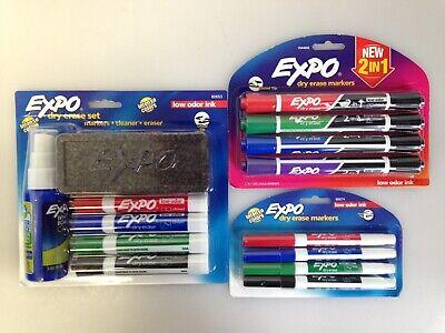 Lot of 3, Expo 80653 Dry Erase Marker Starter Set Assorted, 2-in-1 Extra , bag73 Dry Erase Starter Set