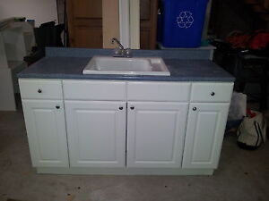 laundry cabinet with laundry sink