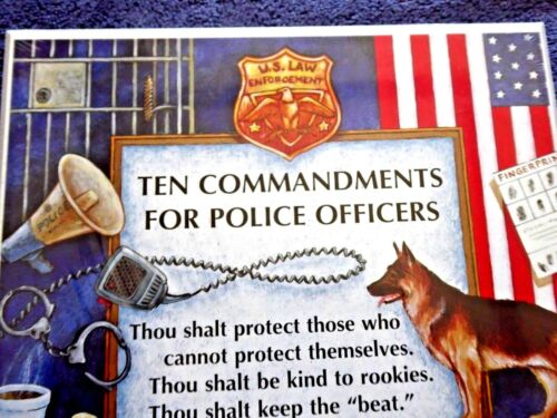 WALL DECORATION TEN COMMANDEMENTS FOR POLICE OFFICERS COPS MADE IN USA 1998