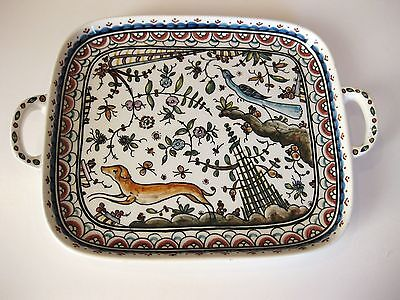 Vintage Hand Painted Portuguese Pottery # & Signed Coimbra