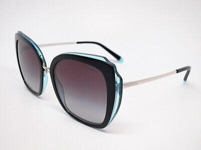 Tiffany & Co TF 4160 8285/3C Black / Transparent Blue Gray Gradient Sunglasses (Tiffany Mens Sunglasses)
