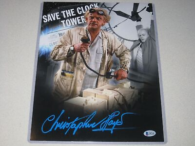 Christopher Lloyd Signed 11x14 BACK TO THE FUTURE Photo Autographed Beckett COA!