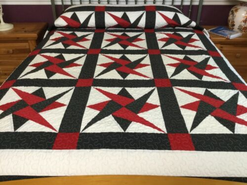 Over King size star patchwork  quilt #yp100
