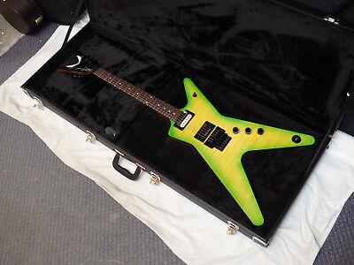 DEAN ML electric GUITAR Dime Slime new w/ Hard CASE - Floyd - DIMEBAG - Green Dean Ml Guitar Case