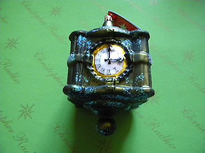 Christopher Radko Chicago State Street Clock 2007 Glass Ornament