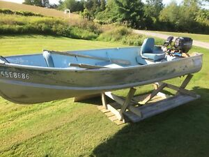 14' aluminum boat with7.5hp