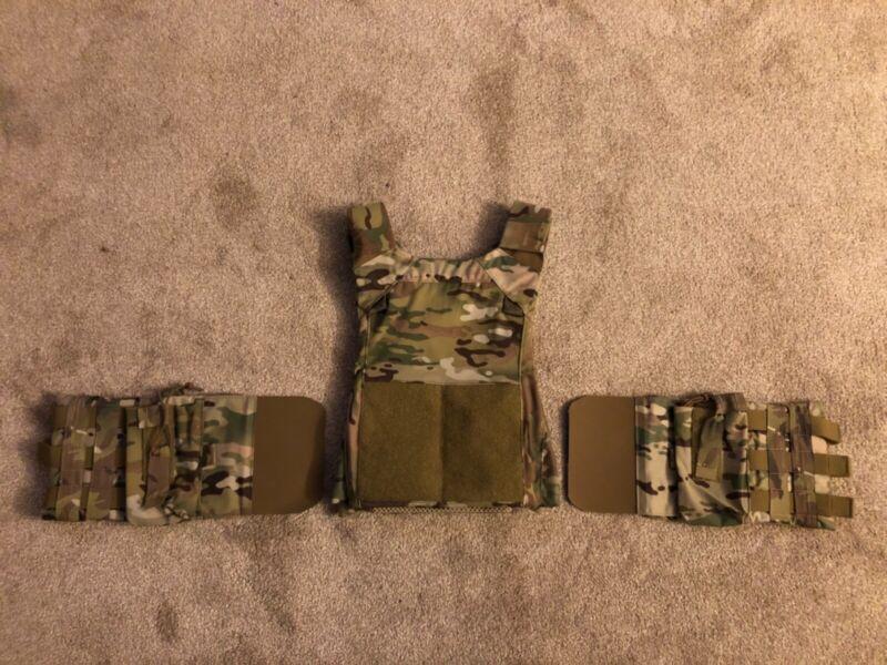 Multicam Crye LV MBAV Plate Carrier SM/MD w/ JTAC MSAP Side Armor Cummerbund NEW
