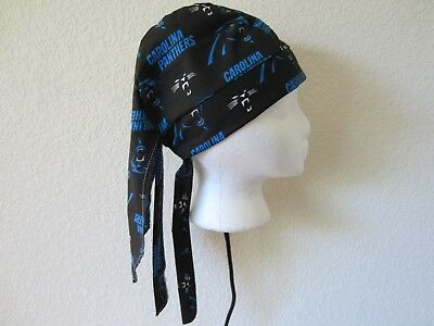Carolina Panthers Skull Cap (Carolina Panthers Welding Welders Hat Surgeon Caps Doo Rag Skullcap)