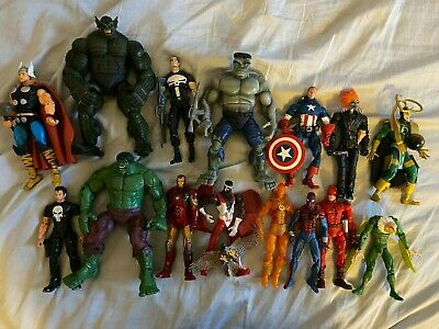 Marvel Legends Spider-man, Hulk, Punisher, Thor, Loki, Iron Man action figures
