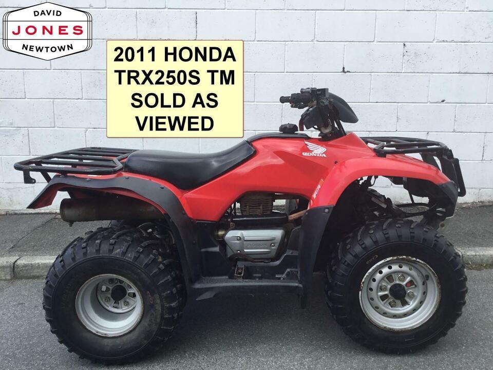 2011 HONDA TRX250 TM 4x2 MANUAL FOURTRAX 2WD QUAD BIKE ATV FOUR WHEELER!