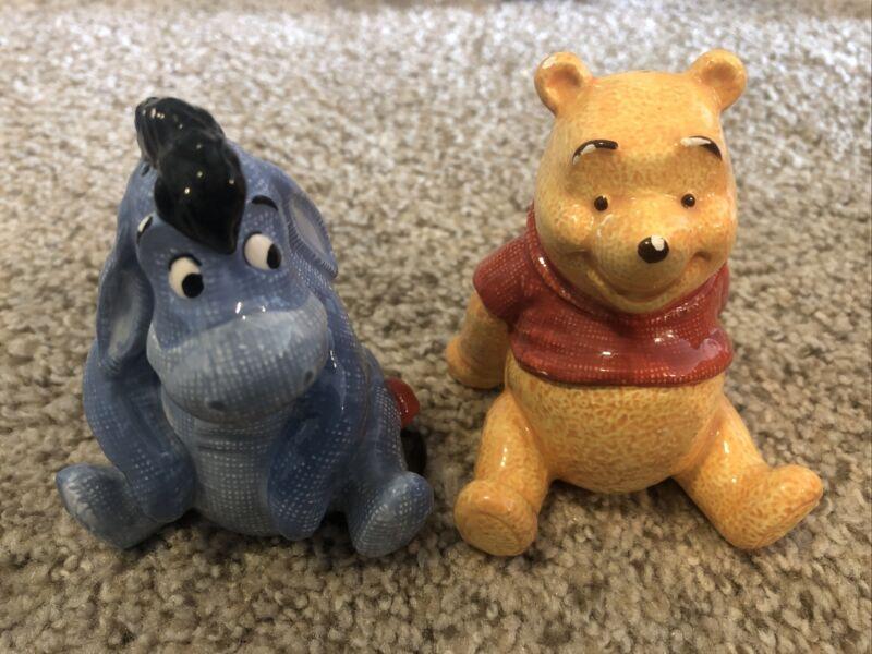 Disney Winnie the Pooh and Eeyore Salt and Pepper Shakers