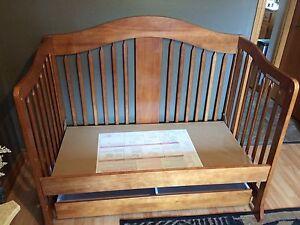 Wooden toddler bed ( converted)  Kitchener / Waterloo Kitchener Area image 3