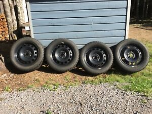 Studded winter tires on rims 205/55/16