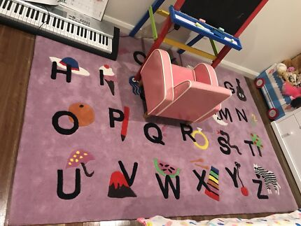 Children's rug Alphabet ABC pink girls RRP$245 150x220cm floor rug