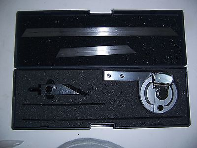 Universal Bevel Protractor With Magnifier 0 To 360 Deg New