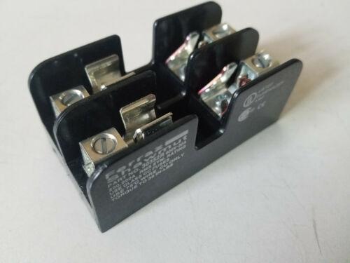 New Ferraz Shawmut 2-Pole Type CC Fuse Holder Block, 30A 600V, 30352R