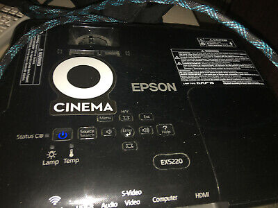 Epson EX5220 Projector with Carrying Case, Wireless Dongle and Remote Control