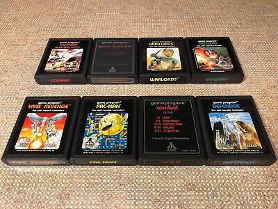 8x Atari 2600 Games Yars' Revenge Warlords Berzerk Pac-Man Defender VCS Lot