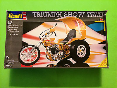 TRIUMPH SHOW TRIKE MOTORCYCLE MODEL KIT REVELL 1/8 SCALE LOOK!!