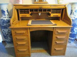 Antique Roll Top English OAK Desk Forrestfield Kalamunda Area Preview