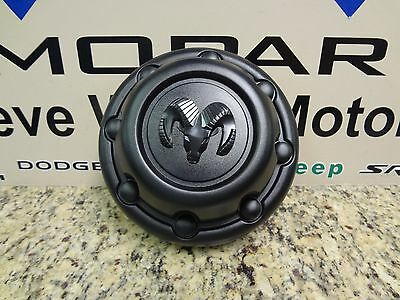 94-98 Dodge Ram Trucks New Wheel Center Cap Rams Head Black Mopar Factory Oem
