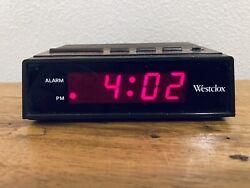 Westclox 22690 Retro Wood Grain LED Alarm Clock, 0.6-Inch Red LED