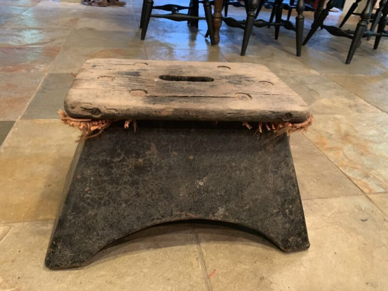 Antique Railroad Train Passenger Step Stool Consuctor Pullman From N.C Estate