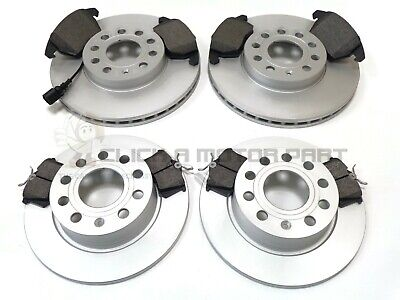 VW GOLF MK6 2.0 GT TDI 140 FRONT & REAR BRAKE DISCS AND PADS SET (CHECK SIZE)