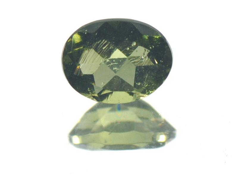 0.92cts OVAL standart cut 6x8mm moldavite faceted cutted gem BRUS1268