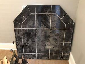 Wood stove pad
