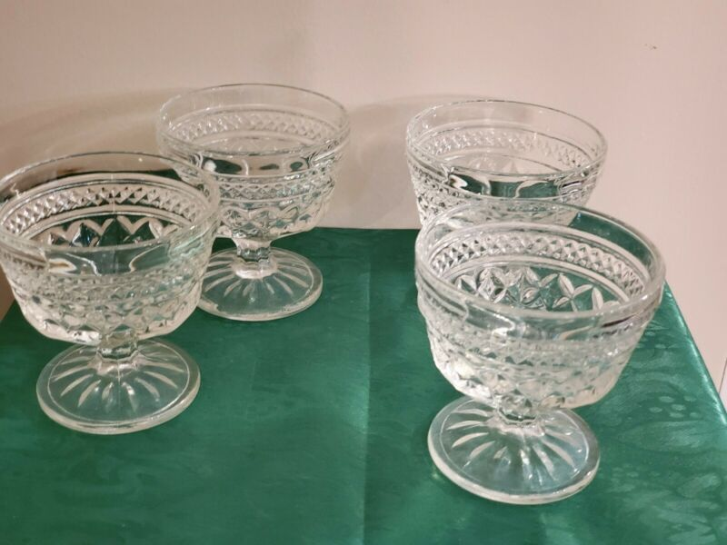 Anchor Hocking Glass, Wexford, Dessert, Crystal (clear)Excellent Condition