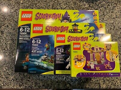 Lot Set 4 Lego Scooby-Doo 75900, 75901,75903,75904 Retired New US Seller Free SH
