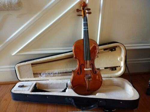Cecilio CVN-200 Solid Wood Violin Size 3/4 With Case, Tuner And 2 Bows - $90.00