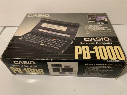 CASIO PB-1000 PERSONAL COMPUTER VINTAGE COLLECTIBLE ORIG BOX + MANUALS