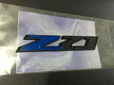 Z71 OFF ROAD Blue Matte Black Diamond Fender Emblem 3M Stick On 115mm*21mm