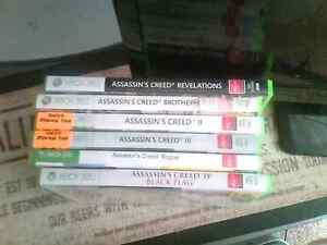 Xbox  360 Assassins creed games 6 titles. Bedford Bayswater Area Preview