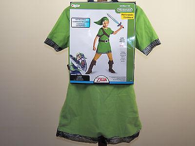 Legend Of Zelda Link Halloween Costume World Nintendo Size 4/6, 7/8, 10-12 *NEW*