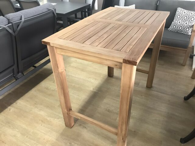 Teak Outdoor Bar Table | Outdoor Dining Furniture ...