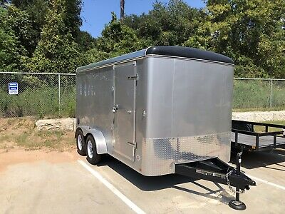 2018 7 X 14 Enclosed Cargo Trailer Ramp Side Door