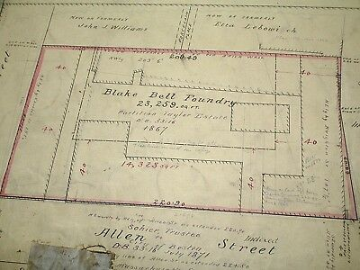 1896 Survey, Blake Bell Foundry, Boston - Charles, Allen, Brighton Streets
