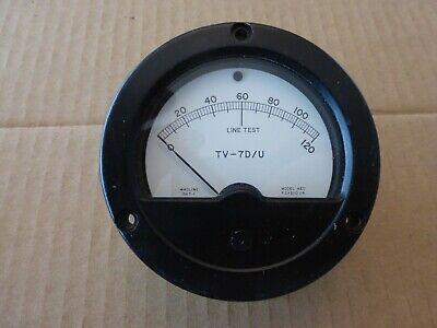 Military Hickok Tv-7du Tube Tester Panel Meter