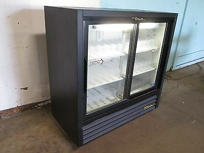 True Commercial Glass Door Refrigerated Low Profile Cold Beverage Merchandiser