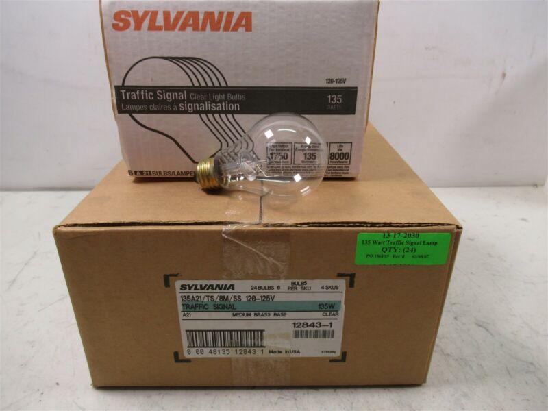 Sylvania 135A21/TS/8M/SS Clear 135W Light Bulbs A21 Traffic Signal Case of 24