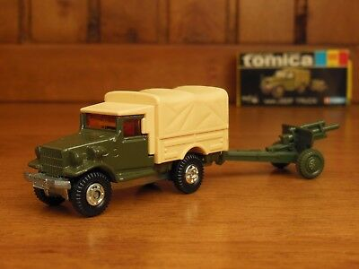 TOMY Tomica 69 TOYOTA JSDF TRUCK, Made in Japan vintage pocket cars Rare !