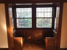 Leadlight bay windows with built in pew style chairs Ashfield Ashfield Area Preview