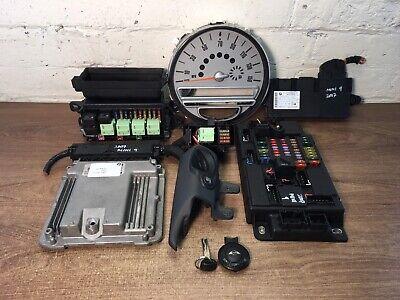 2007 BMW MINI COOPER ONE R56 R57 1.6 DIESEL ECU IGNITION KEY LOCK BARREL SET  •9